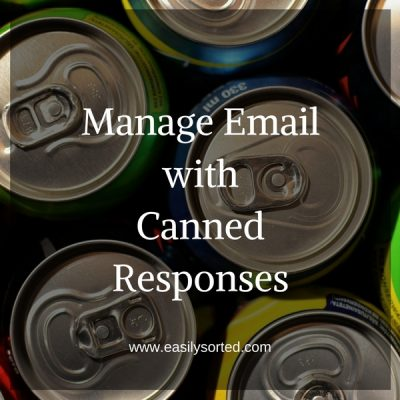 Manage email with canned responses