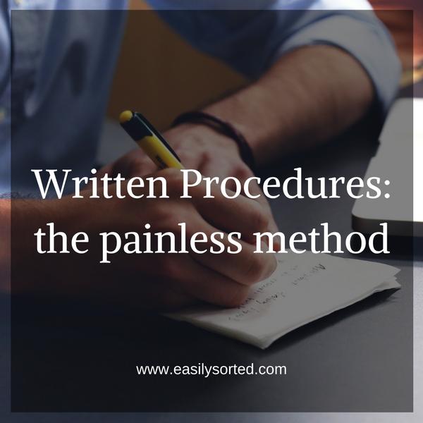 Written procedures: the painless method