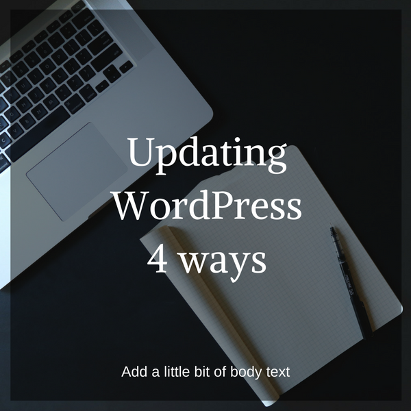 Updating WordPress four ways