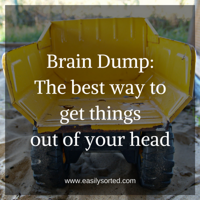 Brain Dump: The best way to get things out of your head