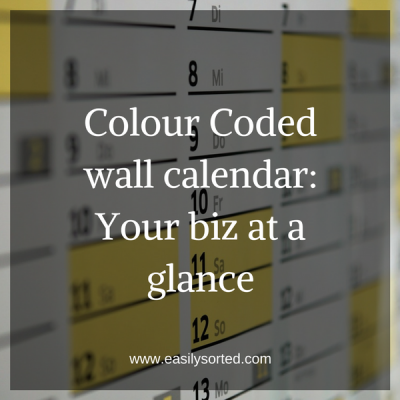 Colour Coded Wall Calendar: Your biz at a glance