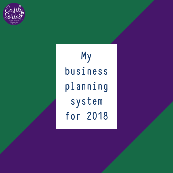 My business planning system for 2018